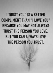 can you love someone but not trust them